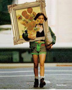 Collage artworks by Shusaku Takaoka. Memes Arte, Art Memes, Art Du Collage, Art Hoe, Surreal Art, Aesthetic Art, Oeuvre D'art, Van Gogh, Art Inspo