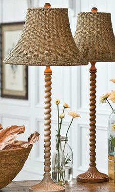Nantucket Twisted Table Lamp - Lamps, Lighting, Home Decor | Soft Surroundings