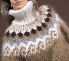 Fair Isle Pullover, Handgestrickte Pullover, Pullover Design, Sweater Design, Mohair Sweater, Wool Sweaters, Fair Isle Sweaters, Gros Pull Mohair, Fair Isle Knitting Patterns