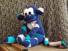 Leroy 6 sock monkey handstitched traditional by ChikiMonkeys