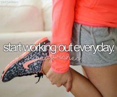 Start Working Out Everyday. / Bucket List Ideas / Before I Die Bucket List For Girls, Bucket List Before I Die, Bucket List Life, Summer Bucket Lists, Life List, Bucket List Tumblr, Teenage Bucket Lists, Sport Motivation, Fitness Motivation