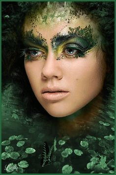 Best Picture For crazy Makeup Art For Your Taste You are looking for something, and it is going to tell … Cosplay Makeup, Costume Makeup, Makeup Inspo, Makeup Inspiration, Fantasy Make Up, Fairy Fantasy Makeup, Fantasy Hair, Green Makeup, Make Up Art