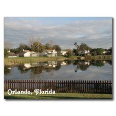 Orlando Florida Postcard - photo I took myself #postcard #florida #orlando #lake