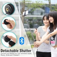 The best bluetooth selfie stick you can find !  http://www.amazon.com/dp/B00USSMBF6
