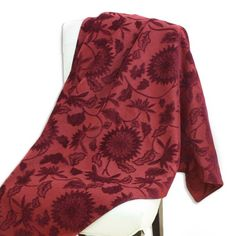 Find it at the Foundary - 60 in. Rust Floral Throw