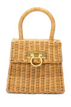 Image of Vintage Salvatore Ferragamo Vintage Ferragamo Plastic Wicker Bag