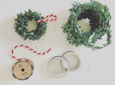DIY: Target Dollar Spot Garland Wreaths