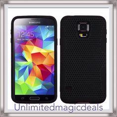HYBRID Armor Mesh Case Cover For Samsung Galaxy S 5 G900 Phone, Red/Black + Tool #UnbrandedGeneric
