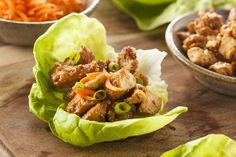 Honey Sesame Chicken Lettuce Wraps | Clean Food Crush