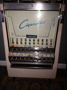 Antique Vintage Cigarette Tobacco Vending Machine Mint   eBay