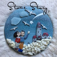 Look My Love Star is shifting . Deutsch Fotos in der . Sea Glass Crafts, Sea Crafts, Mosaic Crafts, Stone Crafts, Rock Crafts, Diy Arts And Crafts, Pebble Painting, Pebble Art, Stone Painting
