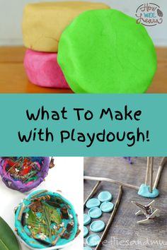 The best playdough activities for kids! These are nice and easy and so much fun for kids to do at home this summer. Playdough play is the perfect rainy day activity for toddlers and preschoolers. It also builds hand muscles and fine motor skills, as well as increases sensory awareness! Rainy Day Activities, Kids Learning Activities, Toddler Activities, Playdough Activities, Arts And Crafts Projects, Toddler Preschool, Fine Motor Skills, Kids Meals, Muscles