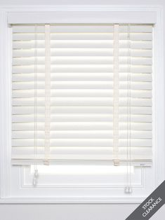 Wood Venetians available in a classic Chalk White colour - suits modern and traditional interiors. Find it at http://www.theblindshop.com