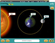 This site is an animation explaining why the moon has its different phases. Great visual for students..