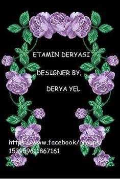 Etamin seccade şablonları Prayer Rug, Cross Stitch Patterns, Crochet Necklace, Rose, Floral, Jewelry, Design, Towels, Dots