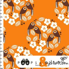 Tissus coton bio Paapii Design oiseaux