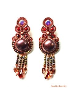 A personal favorite from my Etsy shop https://www.etsy.com/listing/524986293/statement-cooper-soutache-earrings