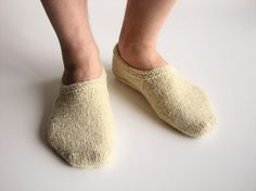 Hand Knitted Woolen Slippers  100 Natural Organic by milleta, €18.00