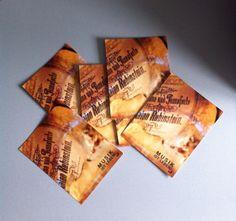 """Postkarte """"Musik ist Leben"""" mit einer Detailaufnahme der Originalcollage"""