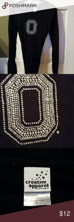 Ohio state t-shirt Serious bling bling buckeyes creative apparel Tops Tees - Long Sleeve