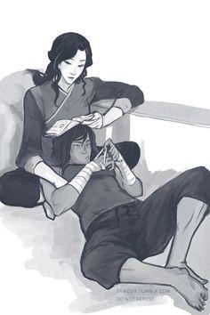 Korra and Asami by Taikova