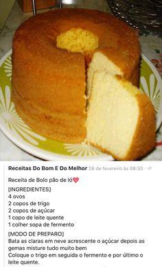 Lemon Recipes, Bread Recipes, Baking Recipes, Cake Recipes, Dessert Recipes, Brazillian Food, Cake Hacks, Fall Snacks, Savoury Cake