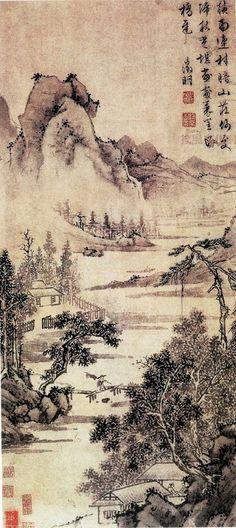 明 文徵明 山水画欣赏_中国传统文化社区_才府