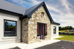 County Mayo bungalow with tricky planning permission Bungalow Exterior, Bungalow House Design, Modern Bungalow, House Designs Ireland, Dormer Bungalow, County Mayo, Irish Cottage, Planning Permission, New Homes