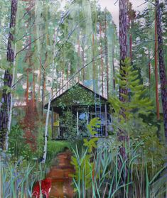Karl Newman Seek and You Shall Find Oil on canvas 118 x 140 cms Contemporary Paintings, Oil On Canvas, Cool Pictures, Woods, Artsy, Gardens, Landscape, House Styles, Home Decor