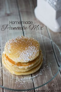 Homemade Pancake Mix #Recipe- my only complaint about this tasty pancake is that the batch makes too much for a family of 3 (including one 4 yr old and a husband who doesn't always want to eat breakfast) I figure I could try to freeze the uneaten ones and see how that works.  Otherwise they are pretty good and I would much rather make the mix myself than buy a box of full of stuff I can't pronounce.