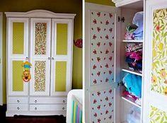 Cómo empapelar un armario