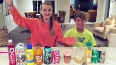 Mystery Drink Challenge! (MattyB vs Carissa Adee) - YouTube