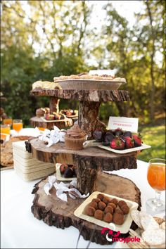 3 tier log platter this would be awesome on a grooms table