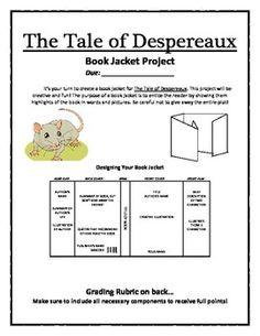 The Tale of Despereaux Book Jacket Project... by HappyTeacherHappyStudents | Teachers Pay Teachers