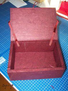 Boîte à thé en carton, Tuto cartonnage - Loisirs créatifs
