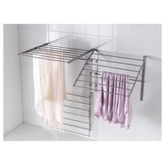 IKEA GRUNDTAL drying rack, wall Adjustable to 3 positions. Simple to fold up when not in use.