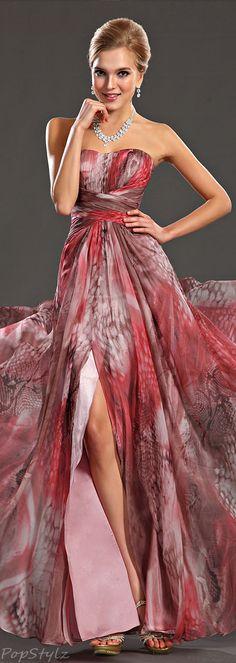 eDressit Printed Evening Gown