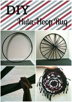 Try this Hula-Hoop Rug -- we did.