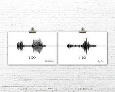Custom Sound Wave Art Print Anniversary Gift I Do Master