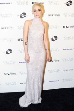 Who: Kristen Stewart  When: March 9, 2017  What: Chanel  Why: As if her newlyshaved headwasn't cool enough, she emerged at the New York premiere of her filmPersonal Shopperlooking drop dead gorgeous in a dazzling knitdress, accenting her look with minimalsilver accessories.