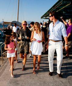 thegreekroyals:  Arietta Morales (daughter of Princess Alexia), Princess Pavlos (Marie-Chantal), Princess Maria-Olympia, Prince Pavlos