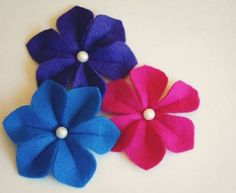 farbige filzblumen diy deko ideen basteln Mehr