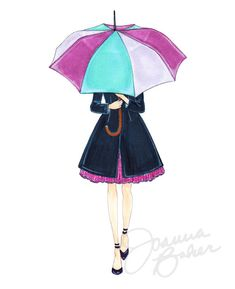 No More April Showers Fashion Illustration Art by joannabaker