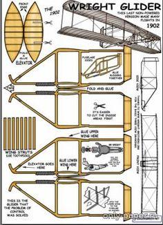 Paper Model 1902 Wright glider Glider