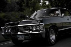 The modified 1967 Chevrolet Impala driven by Supernatural brothers Dean and Sam Winchester. The interior is the classic cream colour, but they swapped out the seats for black ones. Many other modifications were made to allow the Impala to handle the type of driving the show calls for.