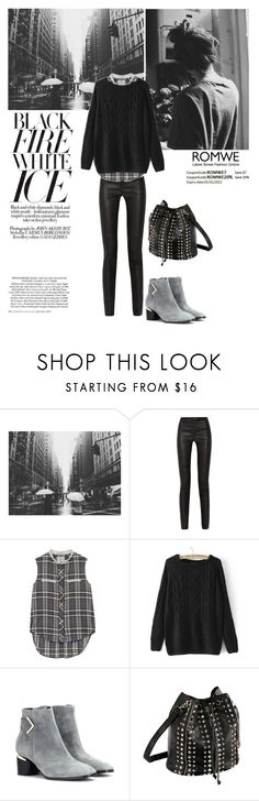 """ROMWE Knit Sweater"" by anniewonderwoman ❤ liked on Polyvore featuring Proenza Schouler, Sea, New York and Nicholas Kirkwood"