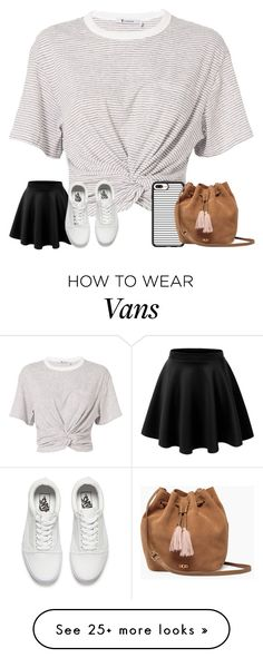 """""""Hello"""" by cockles on Polyvore featuring T By Alexander Wang, Vans, Casetify and UGG"""