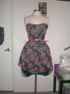 Red Rose Dress by HAUTESTEPPERS on Etsy, $175.00