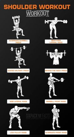 Shoulder Workout Training - Healthy Fitness Routine Arms Back Ab - Yeah We Workout !