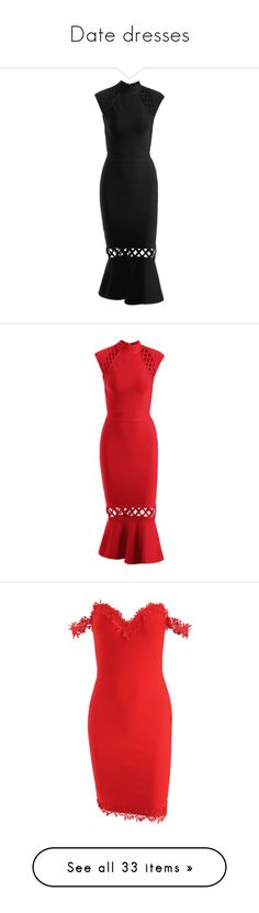 """""""Date dresses"""" by zaful ❤ liked on Polyvore featuring dresses, bandage cocktail dresses, bandage dresses, criss cross dress, criss cross bandage dress, crisscross dresses, zaful, red dress, red cocktail dress and criss-cross dresses"""